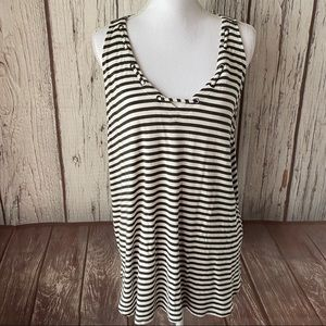 Maurices striped sleeveless top size XL